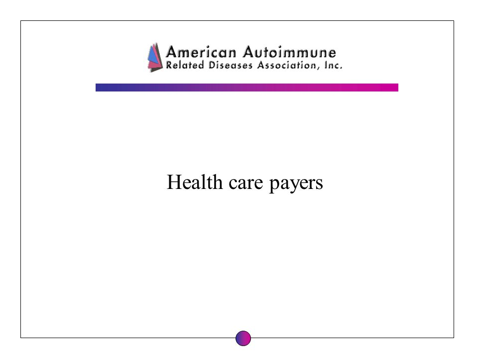 Health care payers