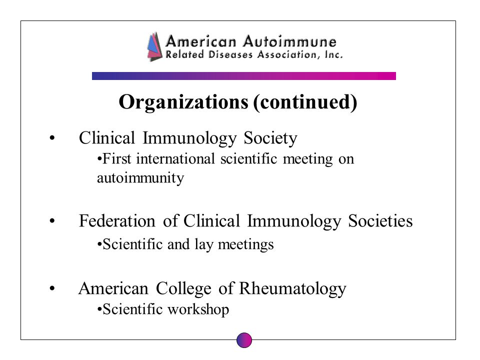 Clinical Immunology Society First international scientific meeting on autoimmunity Federation of Clinical Immunology Societies Scientific and lay meet