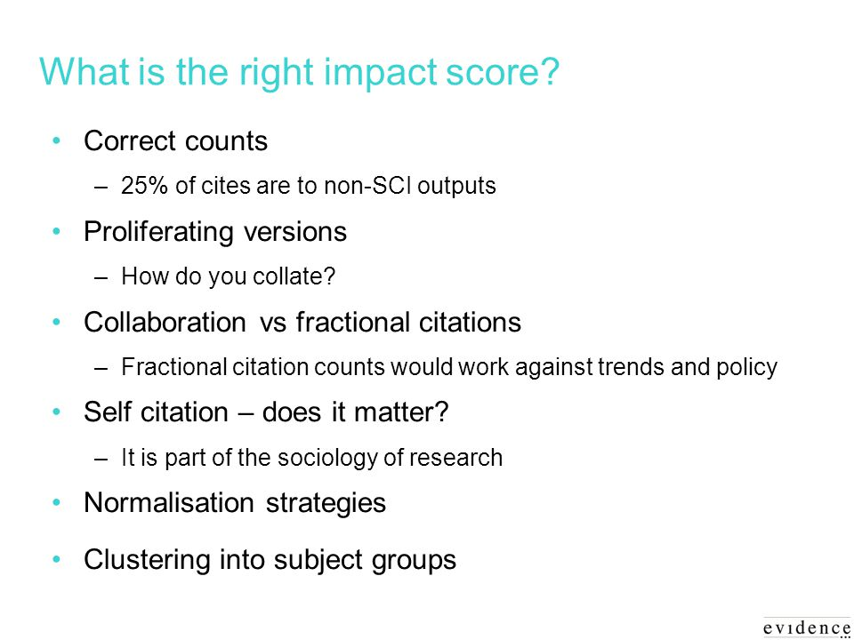 What is the right impact score.
