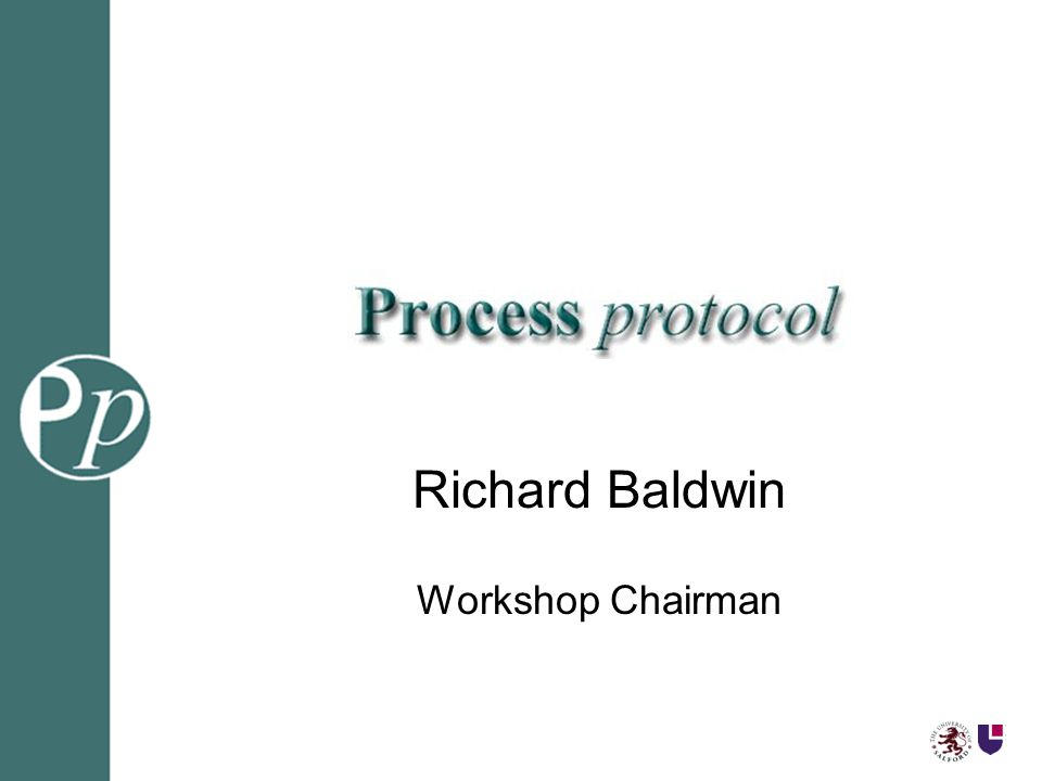 Richard Baldwin Workshop Chairman
