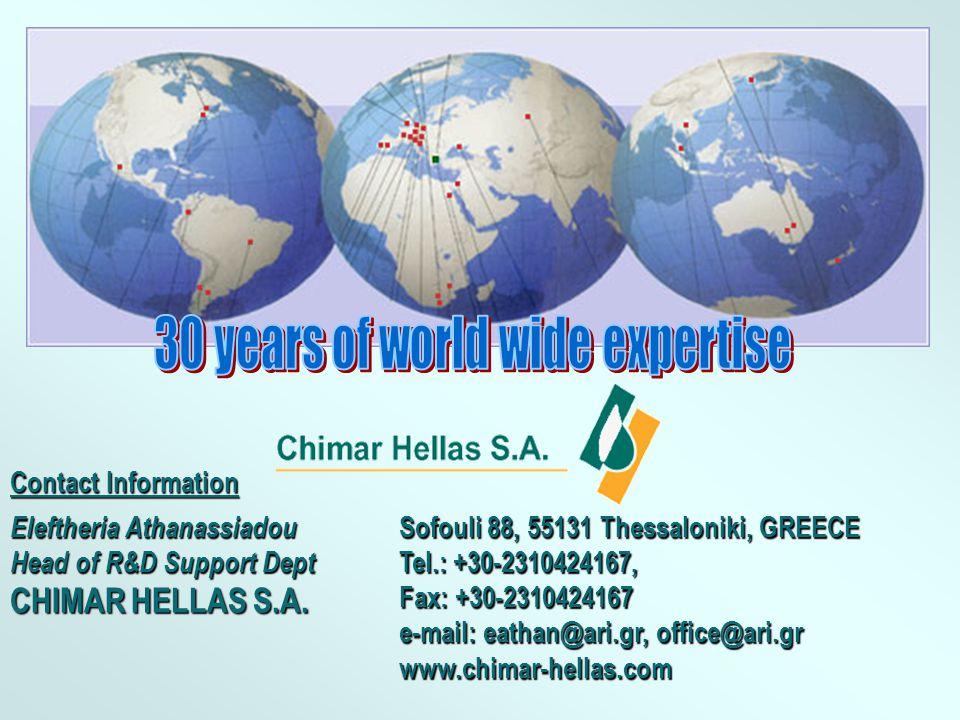 Eleftheria Athanassiadou Head of R&D Support Dept CHIMAR HELLAS S.A.
