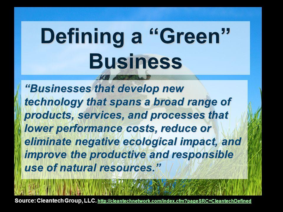 LA Green Economy Source: Burns, P.& Flaming, D. (January, 2006).