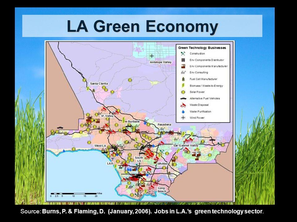 LA Green Economy Source: Burns, P. & Flaming, D. (January, 2006).