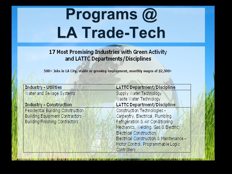 Programs @ LA Trade-Tech