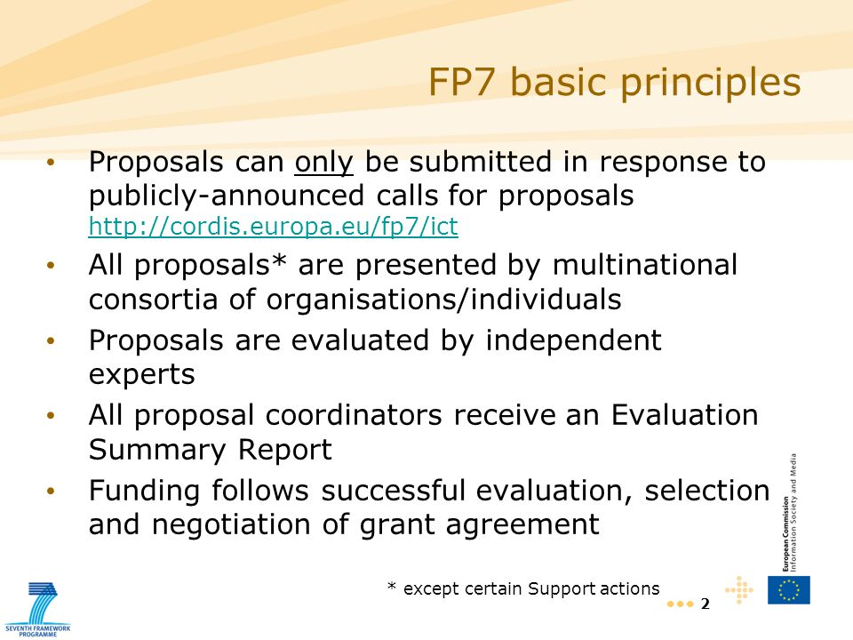 13 Proposal Part B (pdf format only) Part B format directly linked to evaluation criteria Summary S&T quality (bullet points = sections) Implementation (idem) Impact (idem) Ethics Section lengths recommended Part B templates are available through the EPSS