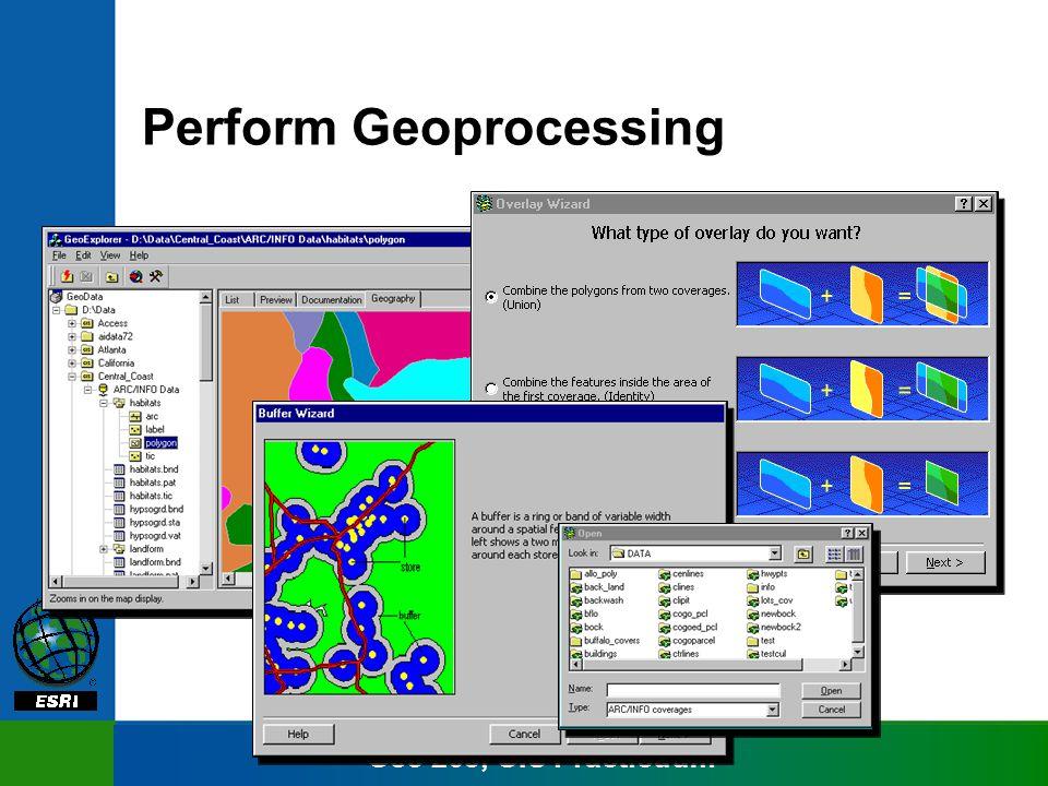 Geo 265, GIS Practicuum Perform Geoprocessing