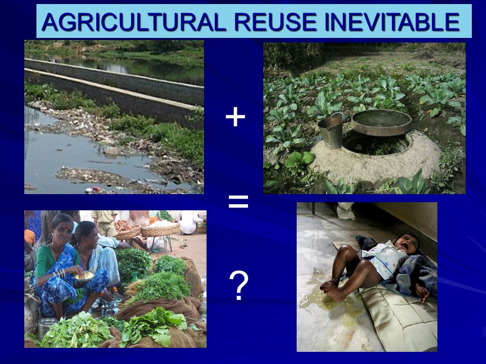 + = AGRICULTURAL REUSE INEVITABLE
