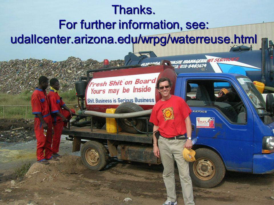 Thanks. For further information, see: udallcenter.arizona.edu/wrpg/waterreuse.html