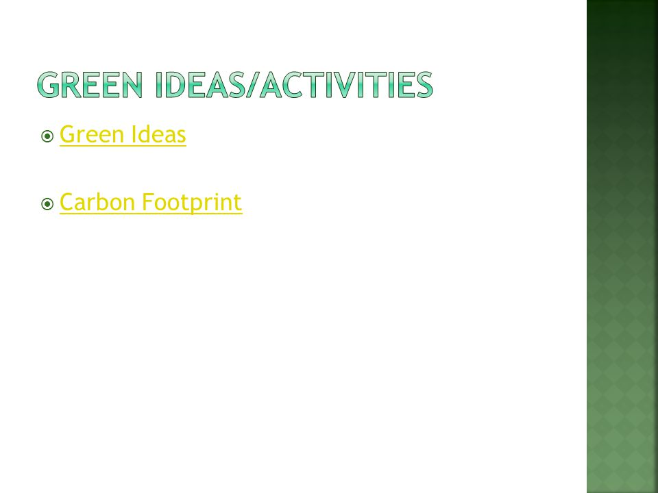 Green Ideas Carbon Footprint
