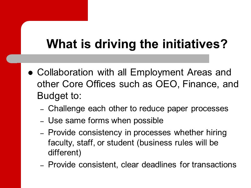 What are the main initiatives.