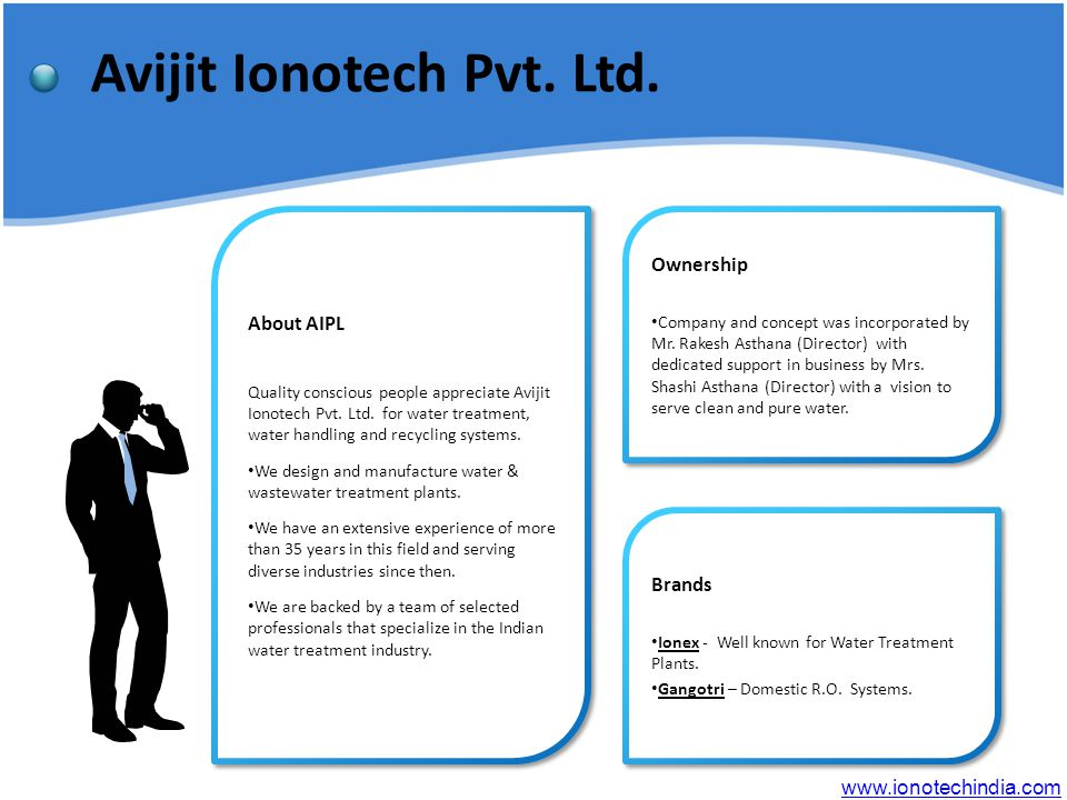 Avijit Ionotech Pvt. Ltd. About AIPL Quality conscious people appreciate Avijit Ionotech Pvt.