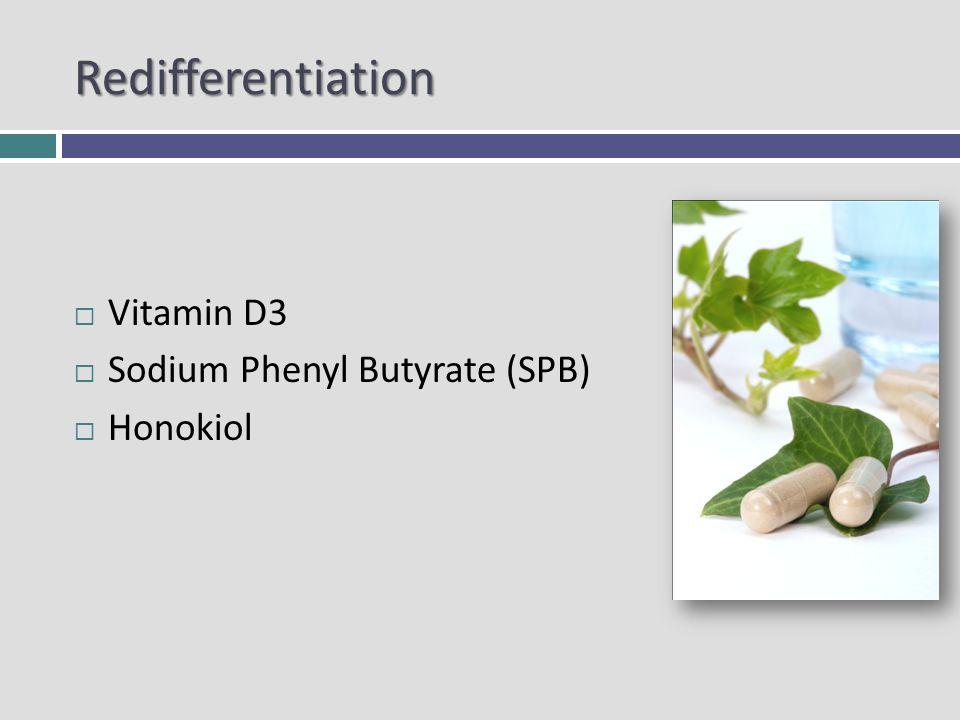 Redifferentiation Vitamin D3 Sodium Phenyl Butyrate (SPB) Honokiol