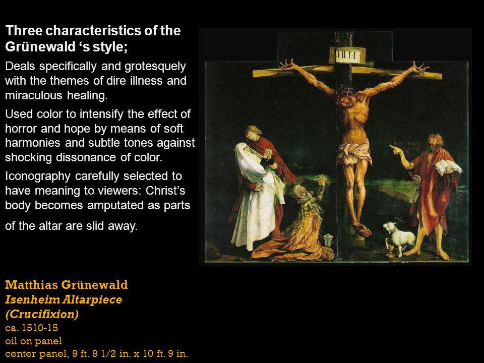 Matthias Grünewald Isenheim Altarpiece (Crucifixion) ca.