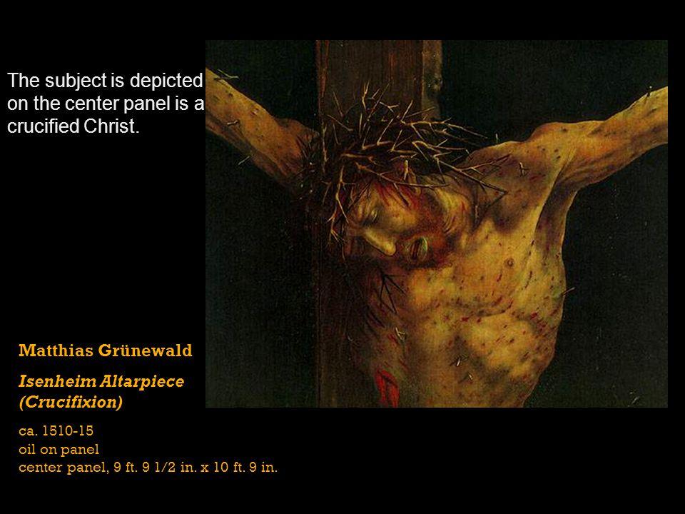 Matthias Grünewald Isenheim Altarpiece (closed) ca.