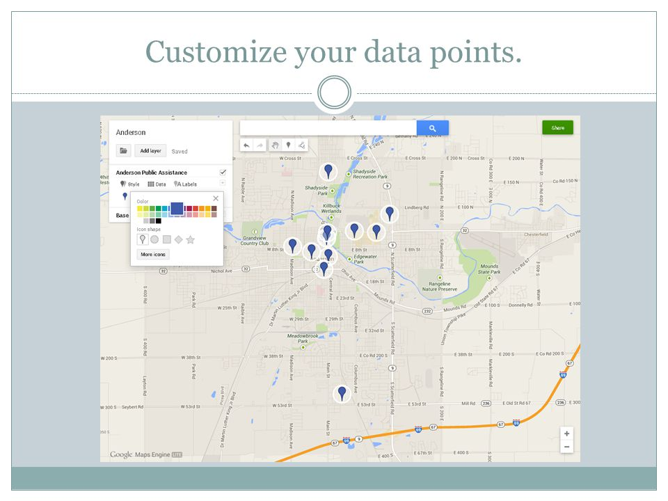 Customize your data points.