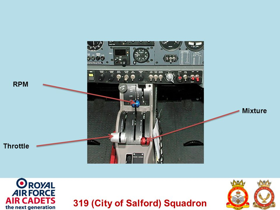 319 (City of Salford) Squadron Throttle RPM Mixture