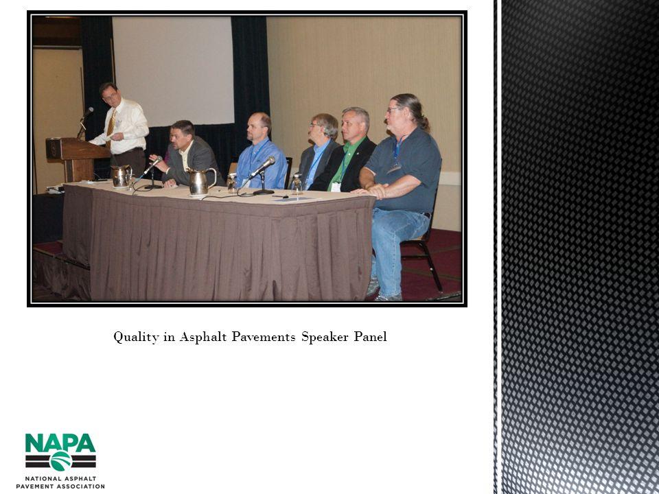 Quality in Asphalt Pavements Speaker Panel