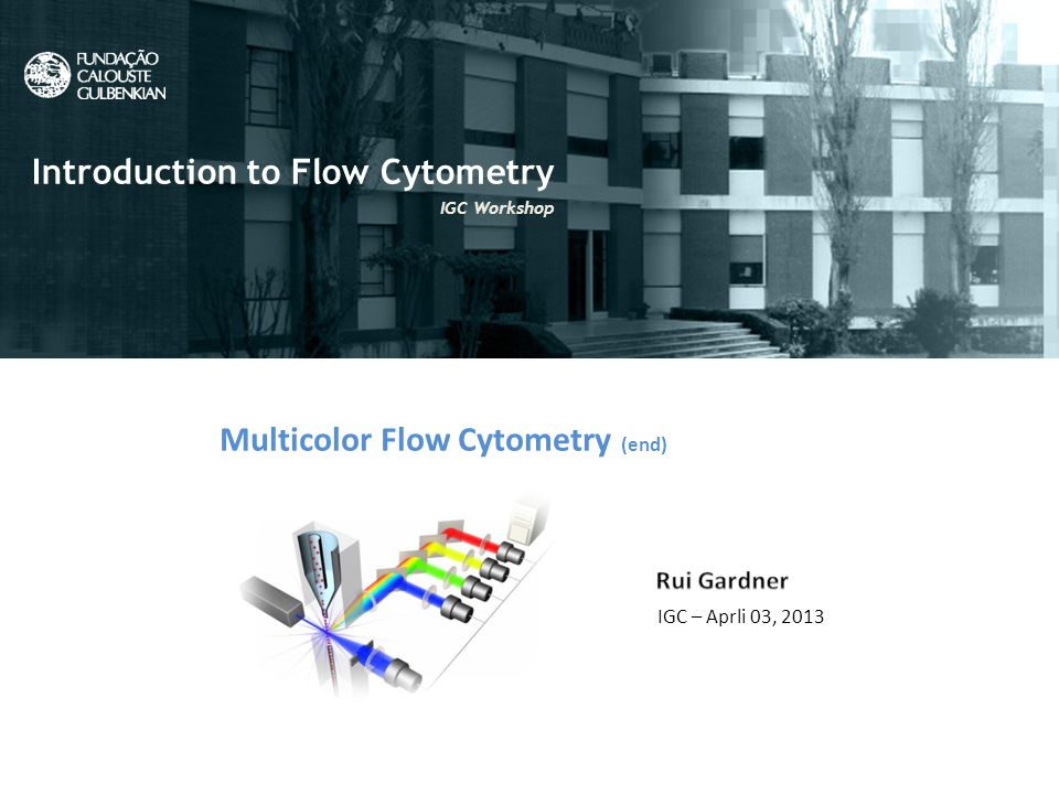 What is Flow Cytometry? Flow Cytometry uic Introduction to Flow Cytometry IGC Workshop Multicolor Flow Cytometry (end) IGC – Aprli 03, 2013