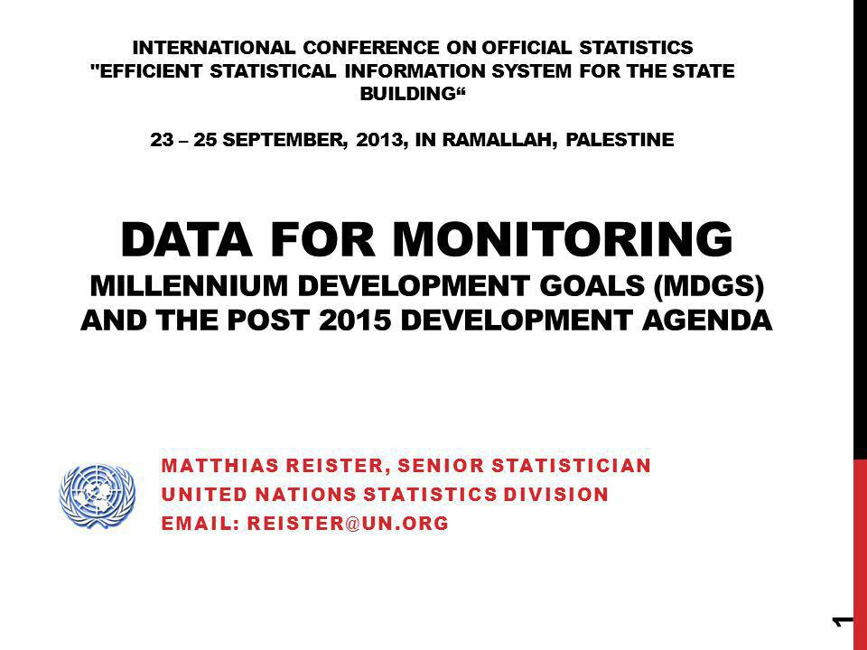 INTERNATIONAL CONFERENCE ON OFFICIAL STATISTICS
