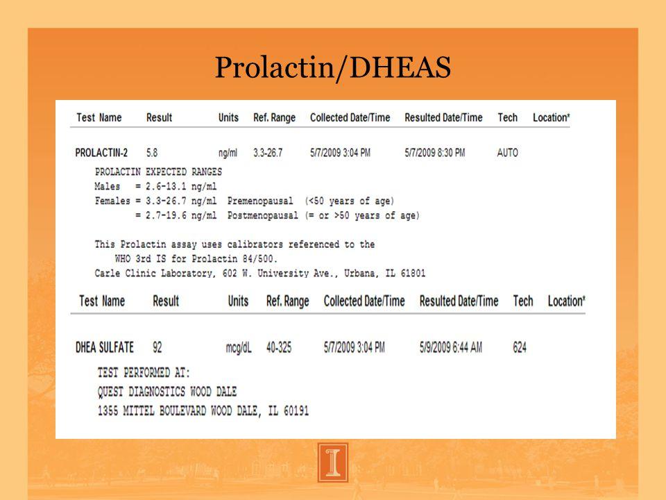 Prolactin/DHEAS
