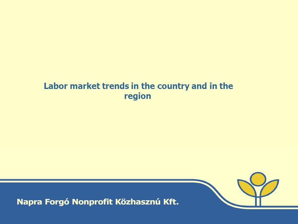 The developement of the unemployement rate compared to EU level EU 10,7% (2012.nov) Hu 10,9% (2012.nov)