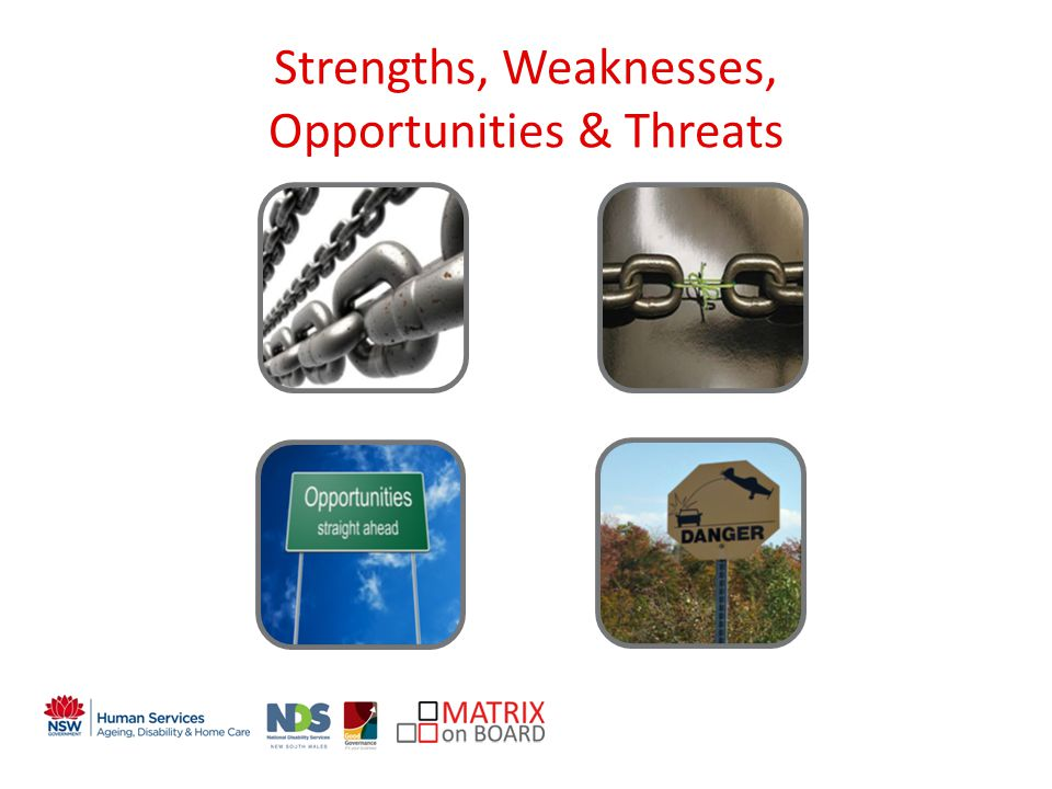An initiative of the NSW Government Strengths, Weaknesses, Opportunities & Threats