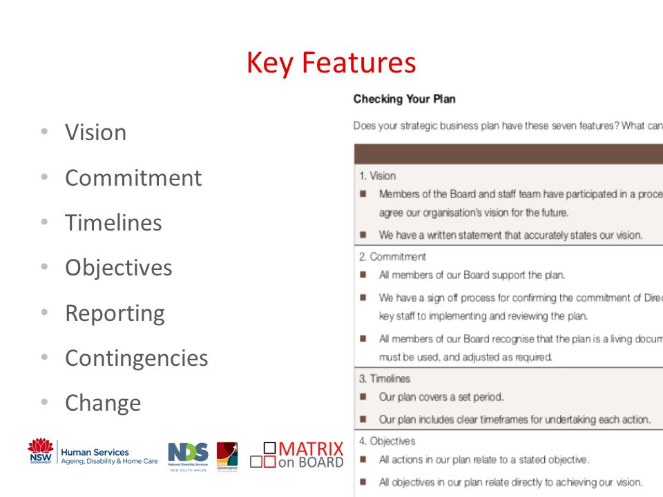 An initiative of the NSW Government Key Features Vision Commitment Timelines Objectives Reporting Contingencies Change