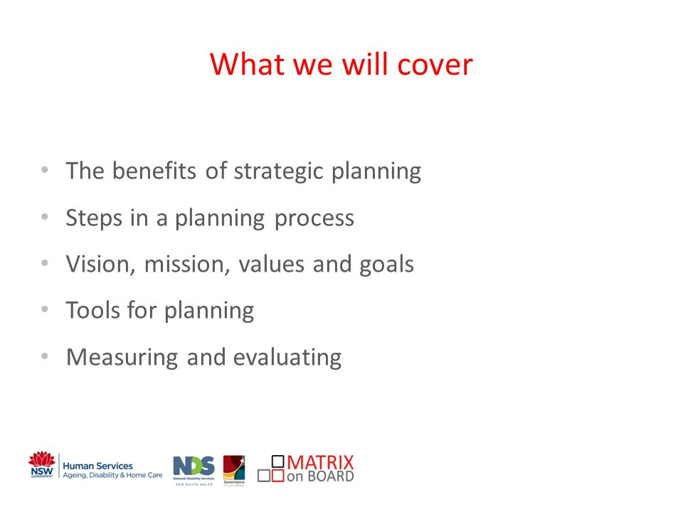 An initiative of the NSW Government Implementing the Plan Presentation Organisational Structure CEO Position Description Board Reporting Financial Plan Work Plan
