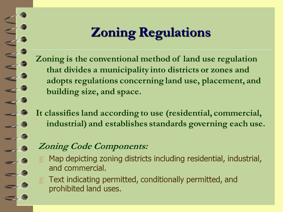 AS 29.40.040 Land Use Regulation In accordance with a comprehensive plan adopted under AS 29.40.030 and in order to implement the plan, the assembly by ordinance shall adopt or amend provisions governing the use and occupancy of land that may include, but are not limited to, zoning regulations restricting the use of land and improvements by geographic districts.