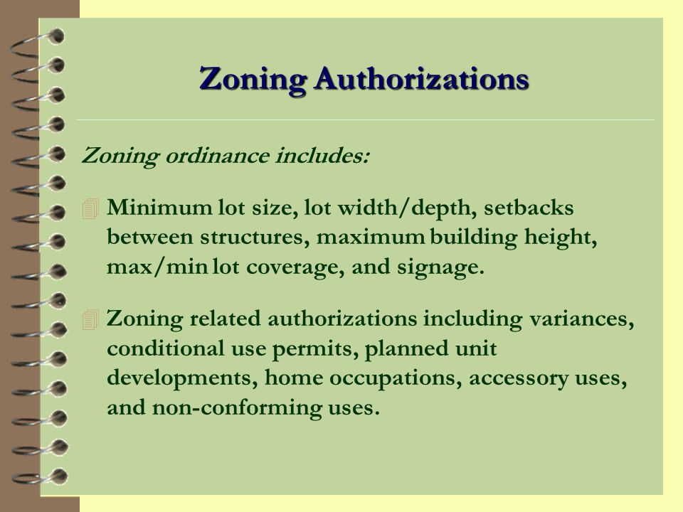 The Purpose of Zoning 4 Promotes public safety, health, and general welfare.