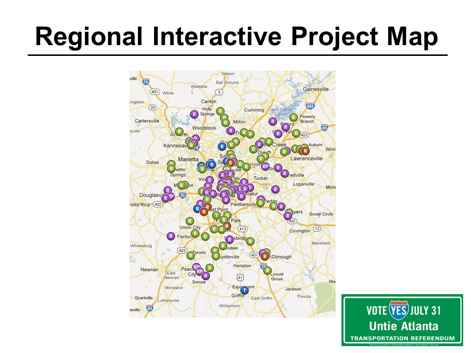 Regional Interactive Project Map