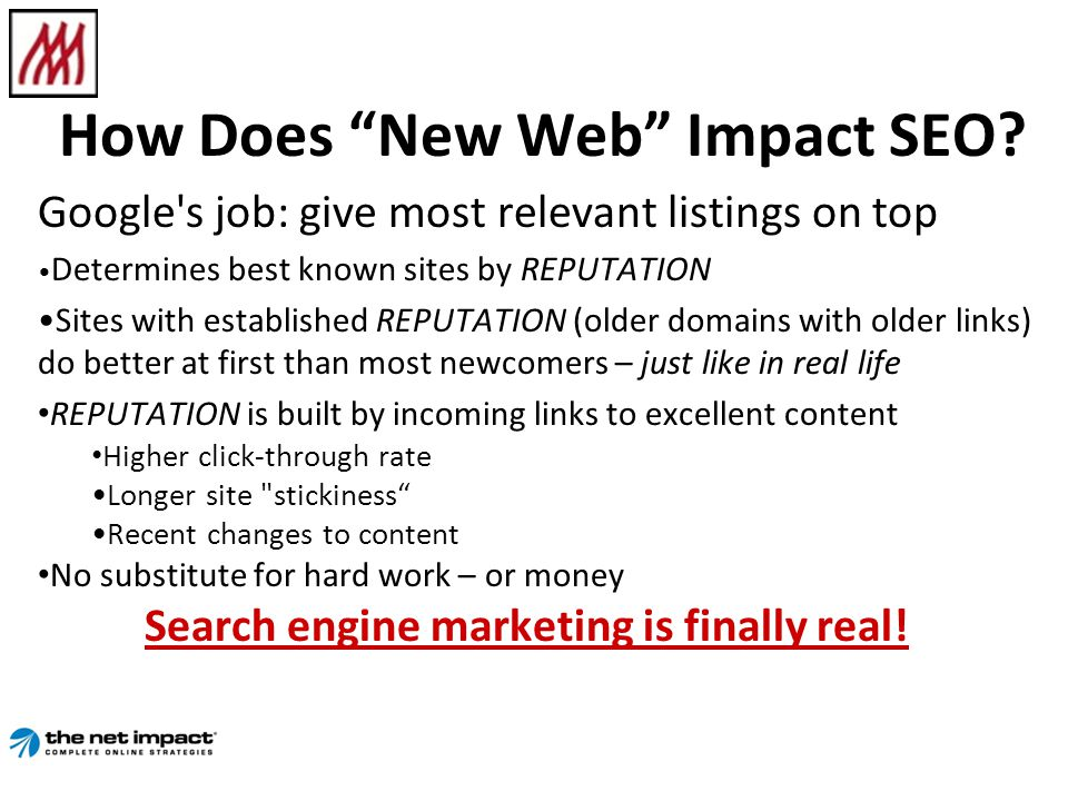 How Does New Web Impact SEO.