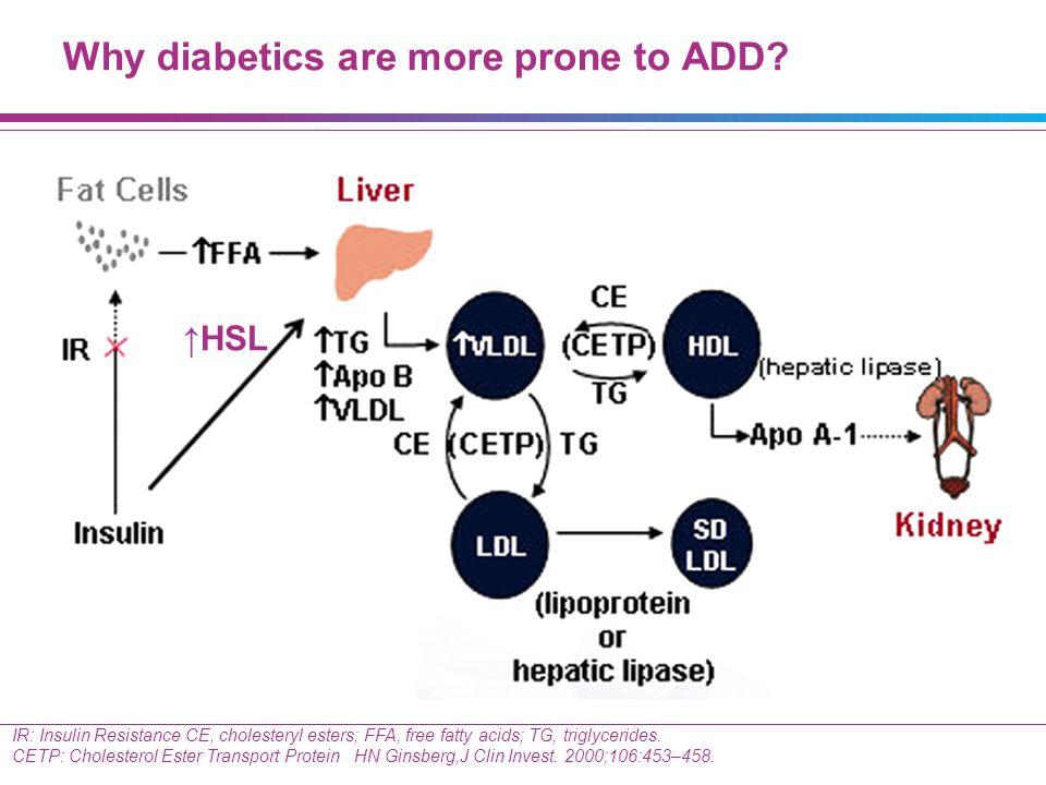 IR: Insulin Resistance CE, cholesteryl esters; FFA, free fatty acids; TG, triglycerides. CETP: Cholesterol Ester Transport Protein HN Ginsberg,J Clin