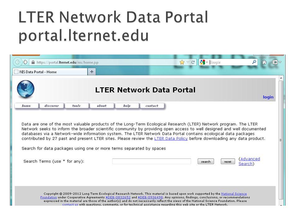 LTER Network Data Portal portal.lternet.edu