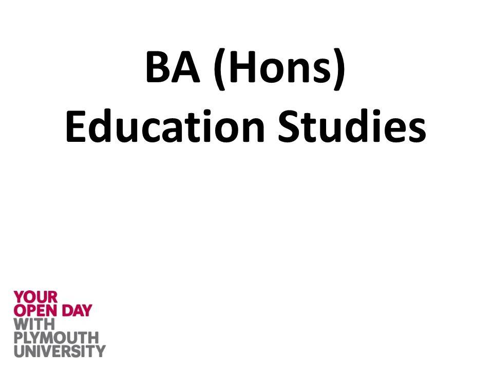 BA (Hons) Education Studies