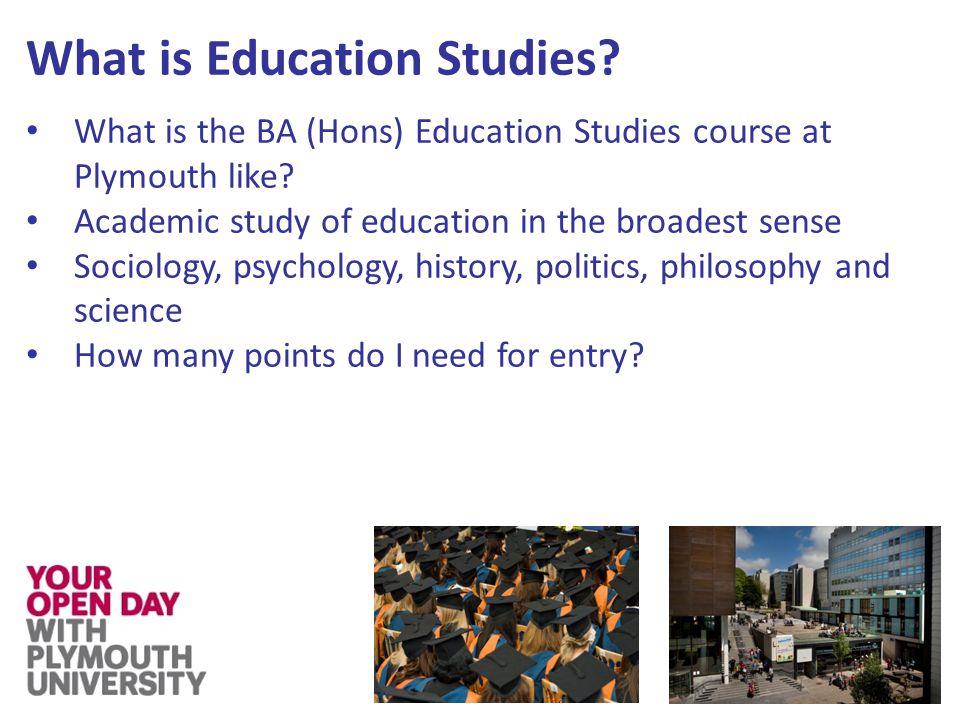 Who studies Education Studies.