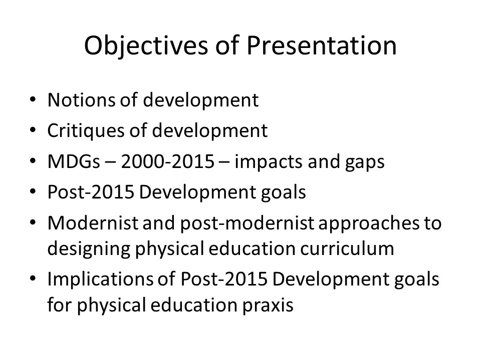 Value Proposition for Physical Education How can we offer more nuanced interpretations of the pedagogic role of physical education in development interventions.