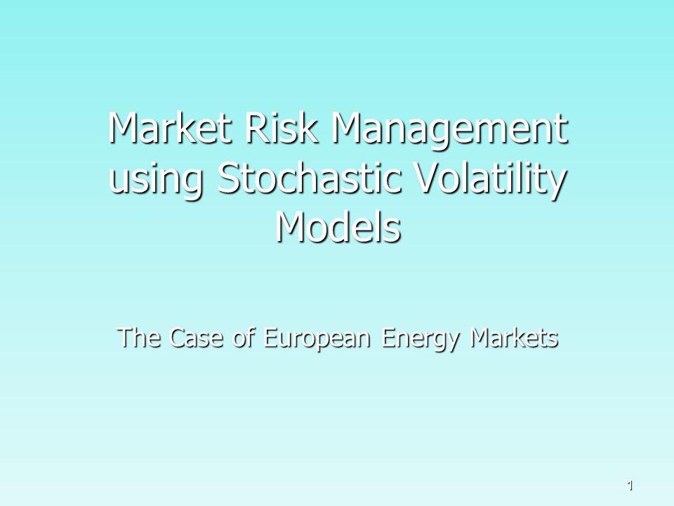 52 SV-Models: Risk Management Forecast Second Moment: Uni- and Bivariate Estimations NASDAQ OMX Front Week/Month