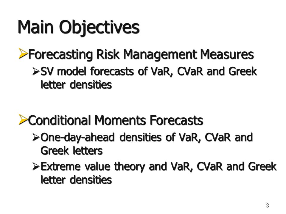 34 Stochastic Volatility Models SV-model Features (2 markets and 4 contracts): NASDAQ OMX Front Week 100 k