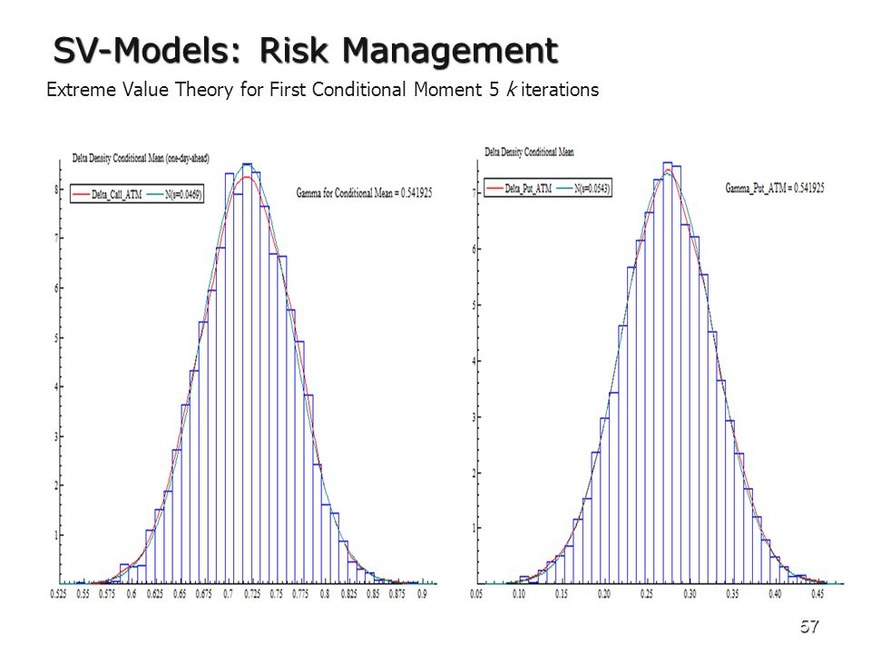 57 SV-Models: Risk Management Extreme Value Theory for First Conditional Moment 5 k iterations