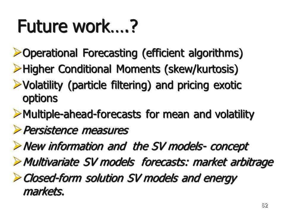 62 Future work…..