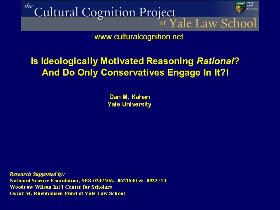 Is Ideologically Motivated Reasoning Rational? And Do Only Conservatives Engage In It?!