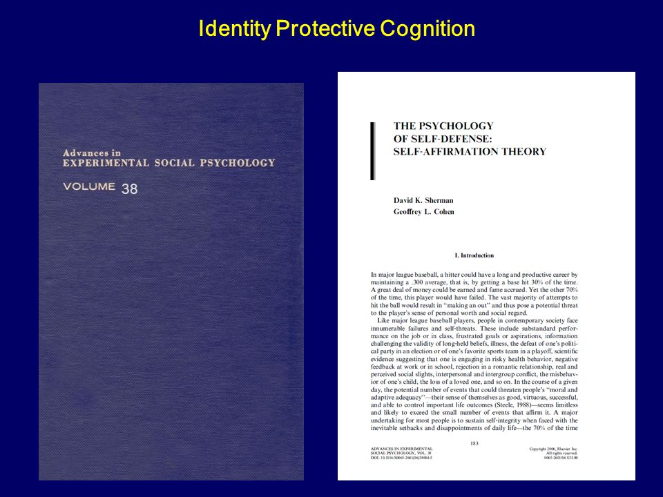 38 Identity Protective Cognition