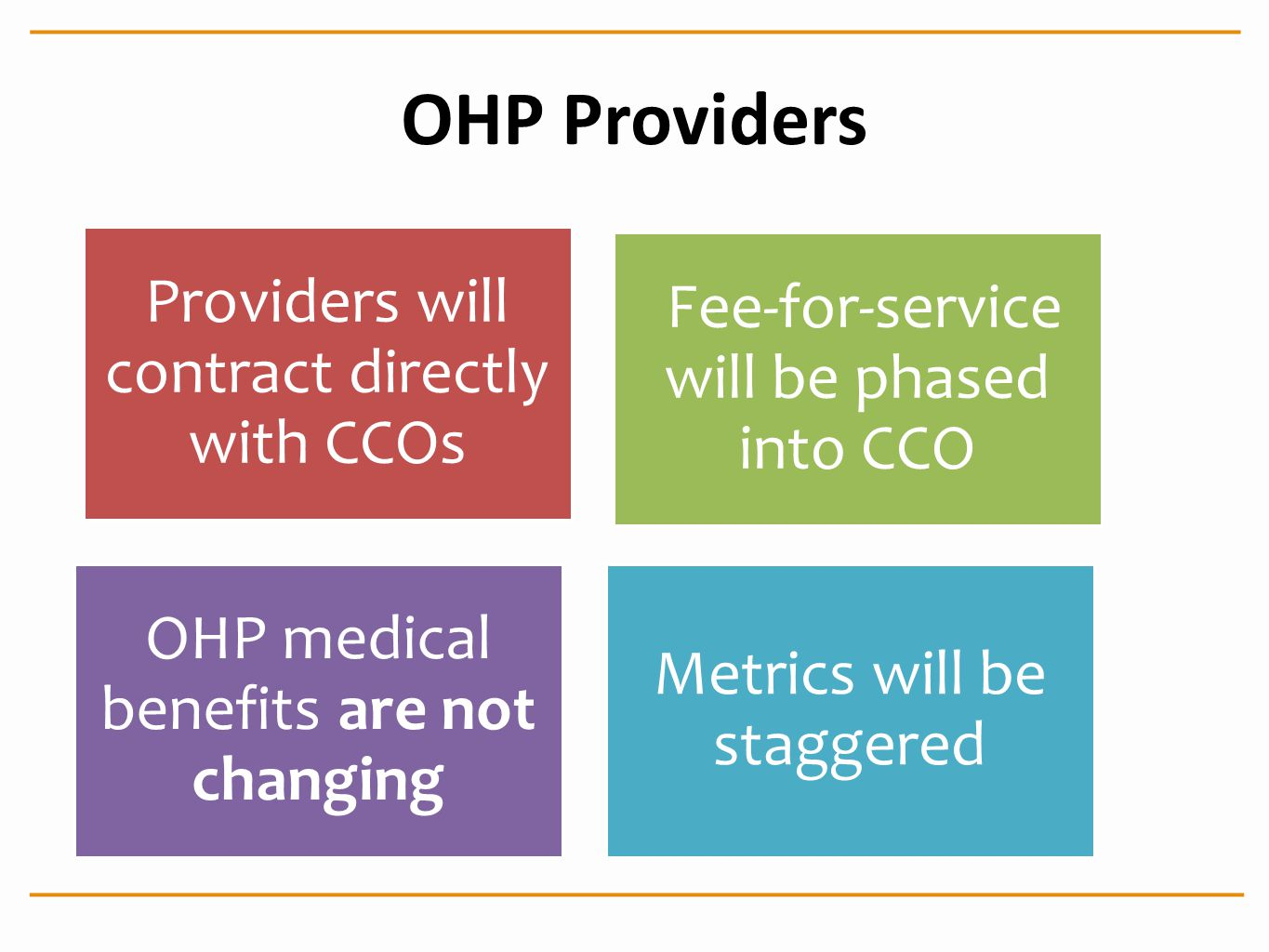 OHP Providers