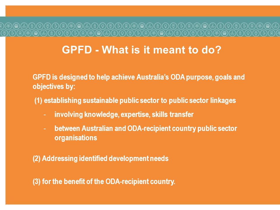GPFD - What is it meant to do.