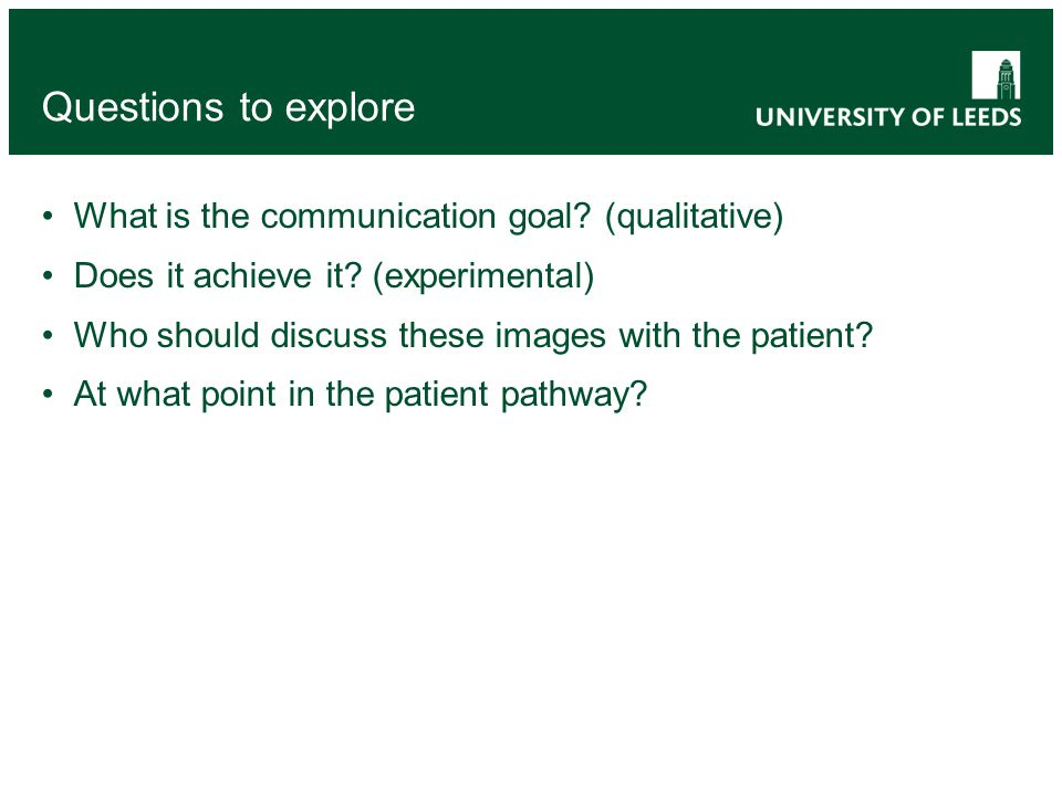 What is the communication goal. (qualitative) Does it achieve it.