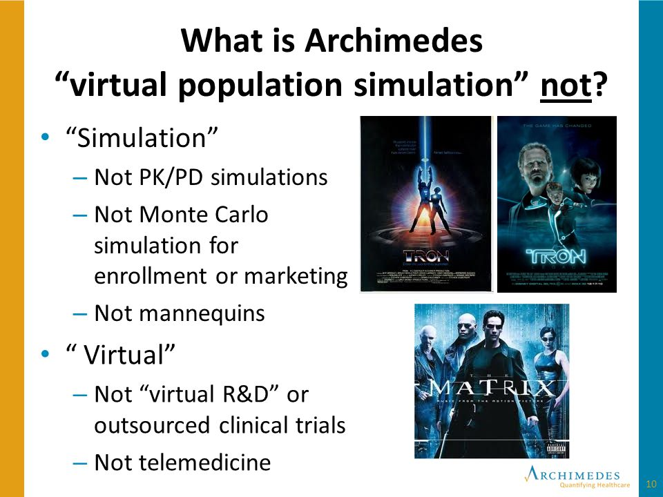 What is Archimedes virtual population simulation not.