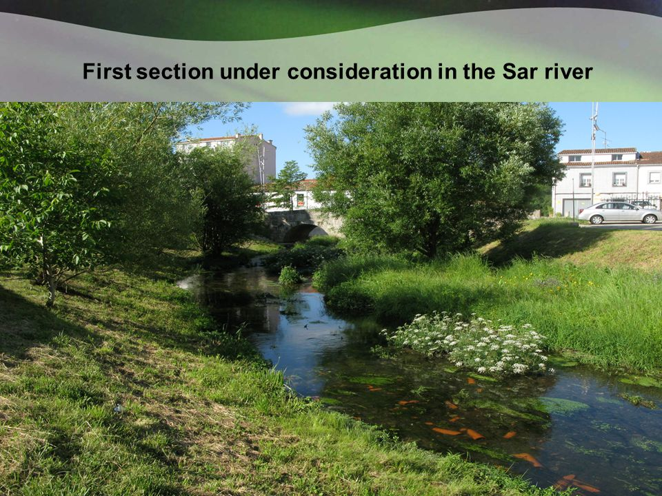 First section under consideration in the Sar river