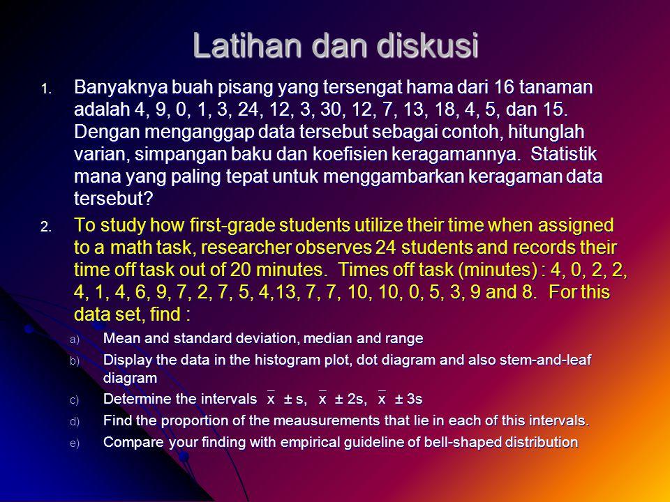 Latihan dan diskusi 1.