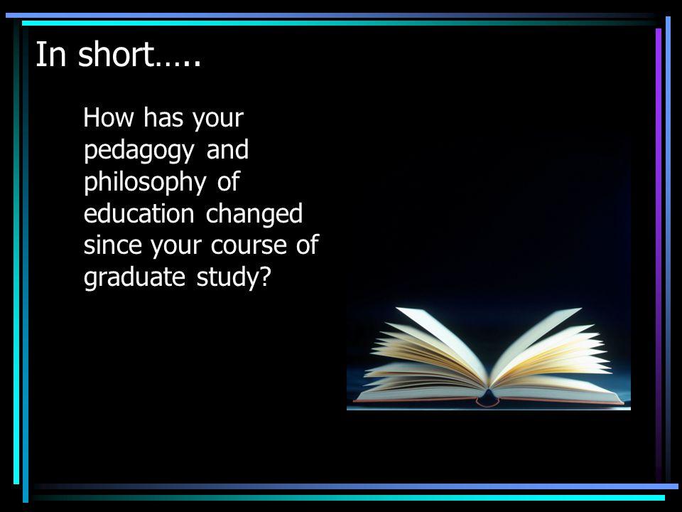 In short…..